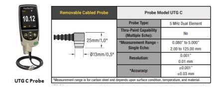 Ultrasonic Thickness Gauge C Probe