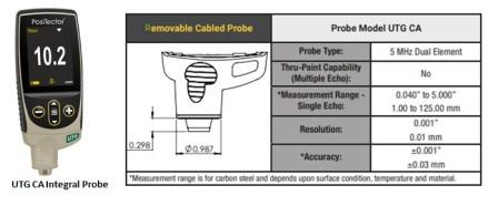 Ultrasonic Thickness Gauge CA integral Probe
